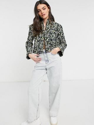 WOMEN Fashion Union relaxed jacket in quilted ditsy floral set