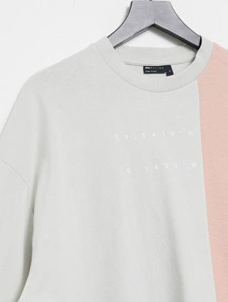 Unrvlld Supply oversized heavyweight long sleeve t-shirt with cut and sew color block