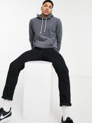 TEST LEVI Levi's small batwing logo hoodie in dark gray
