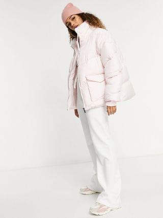 WOMEN The Couture Club signature padded coat in pink