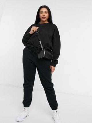 WOMEN Missguided Plus basic sweatshirt in black