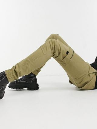 Unrvlled Supply Tall tapered cargo pants in stone