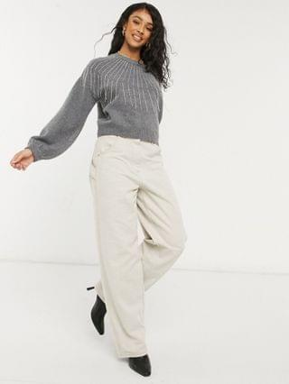 WOMEN BB Dakota If You fancy sweater in gray made from recycled fabric