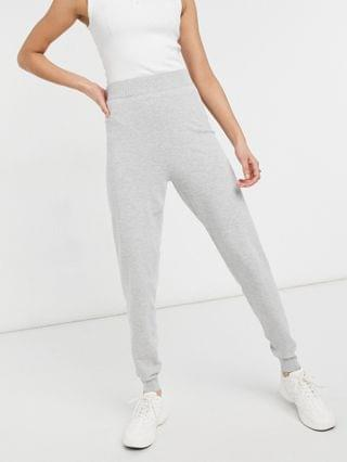 WOMEN knitted jumper and joggers co-ord in grey