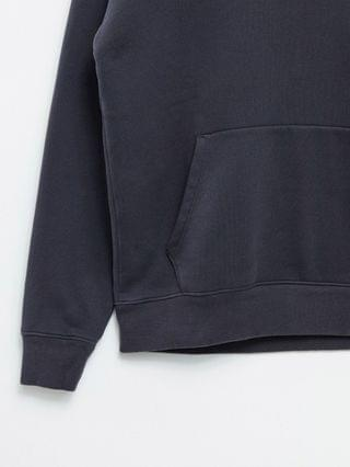 Abercrombie & Fitch tonal front logo hoodie in black