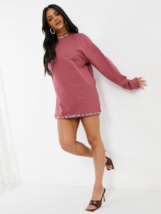 WOMEN The Couture Club oversized sweatshirt dress in rose