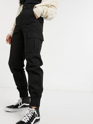 WOMEN Dr Denim Petite cargo pants in black