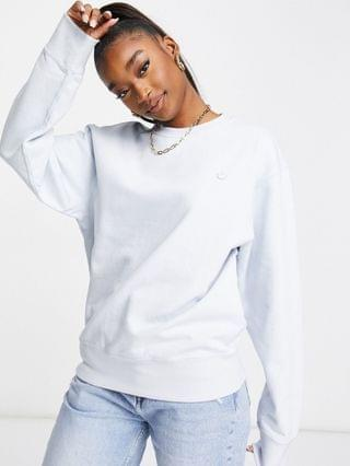 WOMEN adidas Originals boyfriend fit Premium logo sweatshirt in halo blue