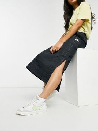 WOMEN Nike quilted long skirt in black