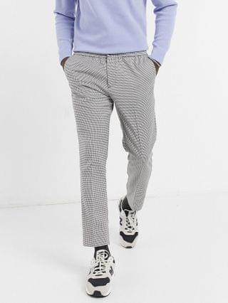 New Look dress pants in gray puppytooth check