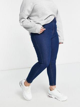 WOMEN Wednesday's Girl Curve high waist skinny jeans in mid wash