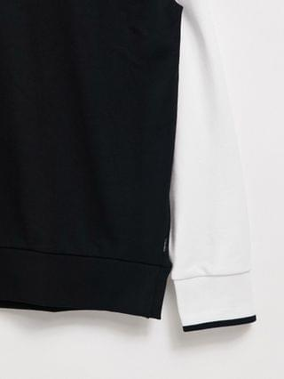 Calvin Klein gold capsule central and tape logo sweatshirt in black