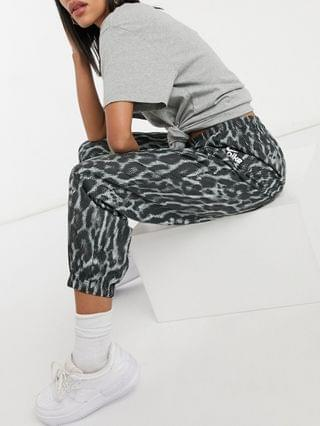 WOMEN Nike woven pants with animal print in gray