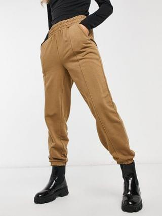 WOMEN Only sweat top and jogger co-ord in brown