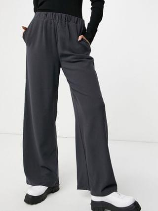 WOMEN Dr Denim Bell pants in charcoal