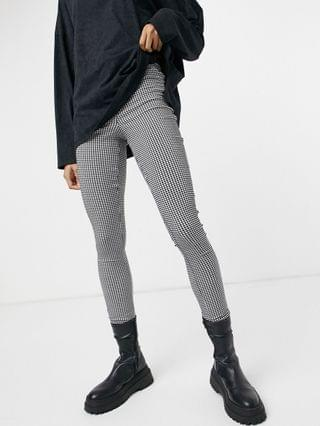 WOMEN Noisy May high waisted ponte skinny trouser in houndstooth