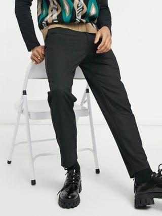 Bershka tailored pants in black