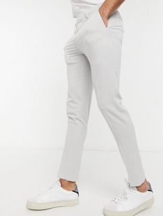 wedding super skinny suit pants in ice gray