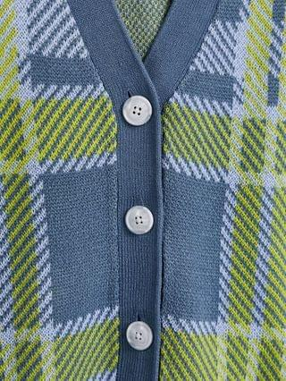 Reclaimed vintage Inspired check cardigan