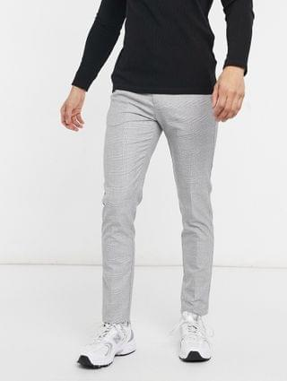 River Island skinny smart pants in gray check