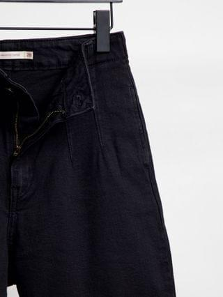 WOMEN Levi's Hollywood high waist tapered jeans in black