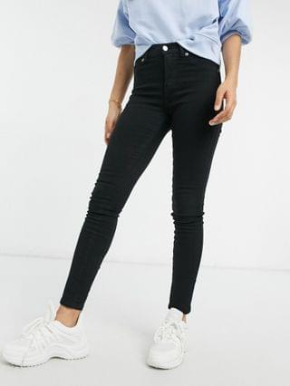 WOMEN Dr Denim Petite Plenty skinny jeans in black