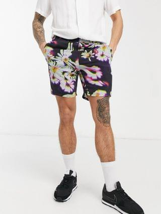 shorter shorts in abstract floral print
