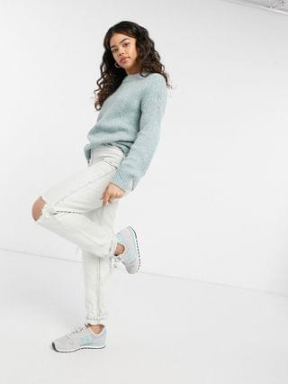 WOMEN Abercrombie & Fitch crewneck sweater in mint heather