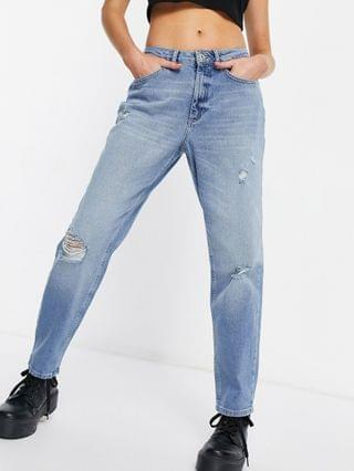 WOMEN Only Veneda stretch mom jeans in blue