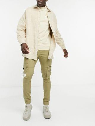 Unrvlld Supply tapered cargo pants in stone