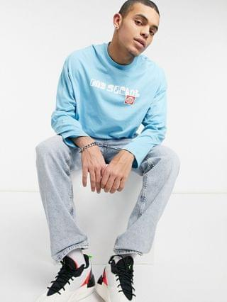 Daysocial oversized fit long sleeve T-shirt with print in blue