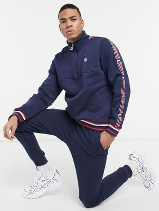 Fila murray taping half zip sweatshirt in navy