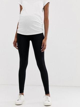 WOMEN Maternity over the bump high waisted leggings in black