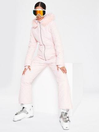 WOMEN Missguided Ski quilted snow suit in pink