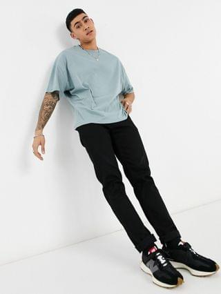 oversized T-shirt in washed blue