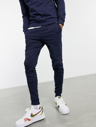 tracksuit with sweatshirt and skinny sweatpants in navy