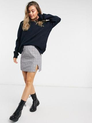 WOMEN oversized sweater with crew neck in navy