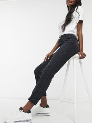 WOMEN River Island Tall Carrie mom jeans in washed black