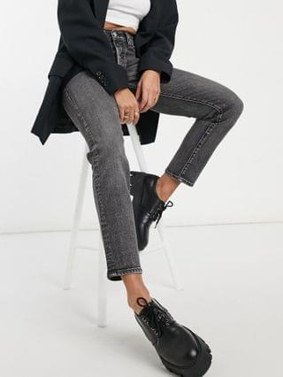 WOMEN Levi's wedgie icon fit jeans in washed black