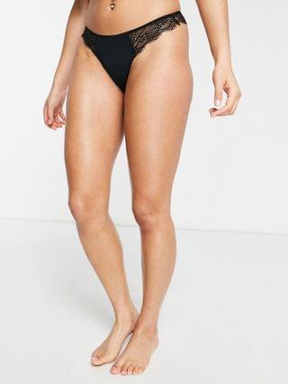 WOMEN Topshop lace brazilian brief in black