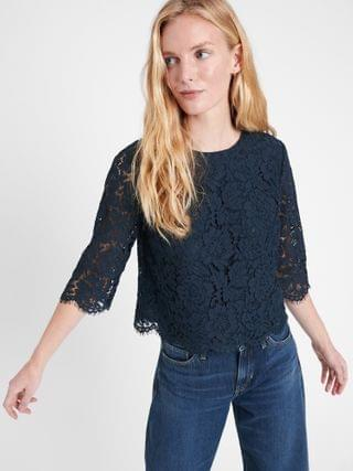 WOMEN Lace Cropped Top