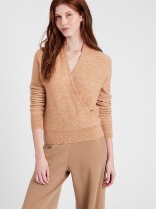 WOMEN Aire Wrap-Front Sweater