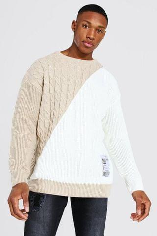MEN Cable Spliced Jumper With Woven Label