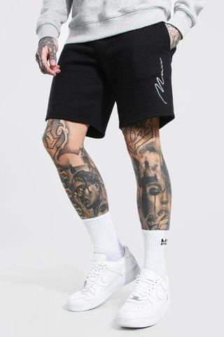 MEN Signature Embroidered Jersey Shorts