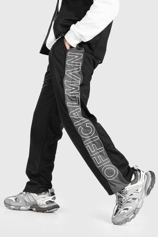 MEN Official Man Embroidered Wide Leg Zip Joggers