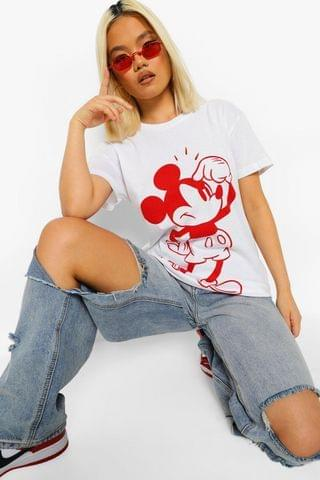 WOMEN Petite Mickey Mouse Licensed T-shirt