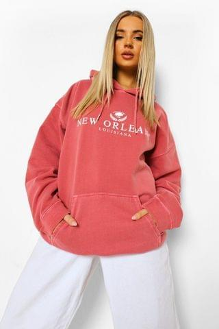 WOMEN New Orleans Oversized Overdyed Hoodie