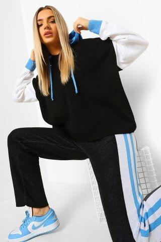 WOMEN Colour Block Knitted Tracksuit