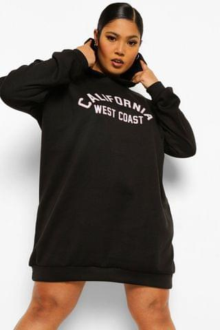 WOMEN Plus California Hooded Sweat Dress
