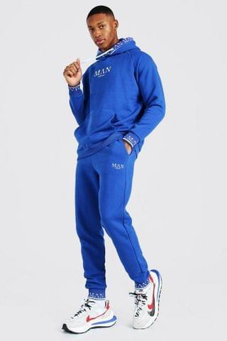 MEN Roman Hooded Rib Tracksuit